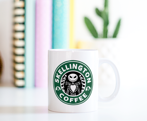 Skellington Coffee Ceramic Coffee Mug