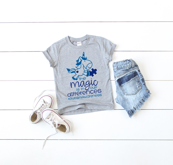 The Magic Is In Our Differences Autism Awareness Tee