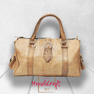 Urban Tan Leather Duffle Bag