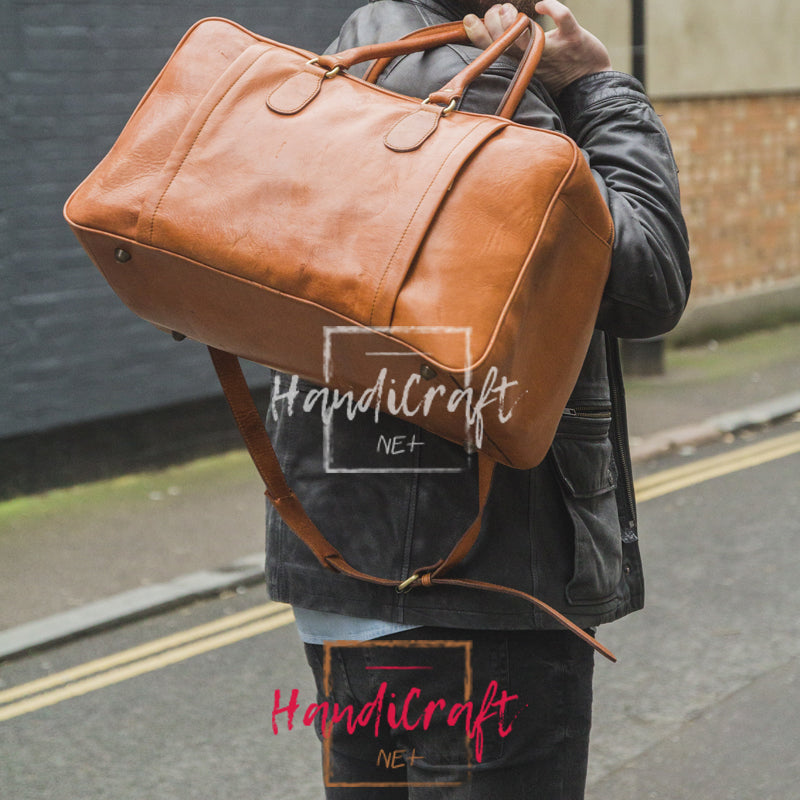 Leather Traveller's Holdall