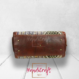 Leather Kilim Travel Bag