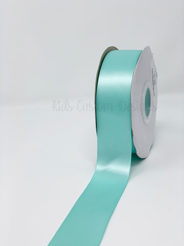 Double Face Satin Ribbon Aqua (W: 1-1/2 inch | 100 yards)