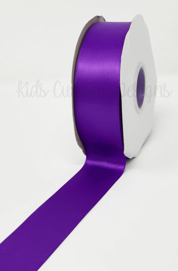 Double Face Satin Ribbon Purple (W: 1-1/2 inch | 100 yards)