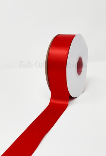 Double Face Satin Ribbon Red (W: 1-1/2 inch | 100 yards)