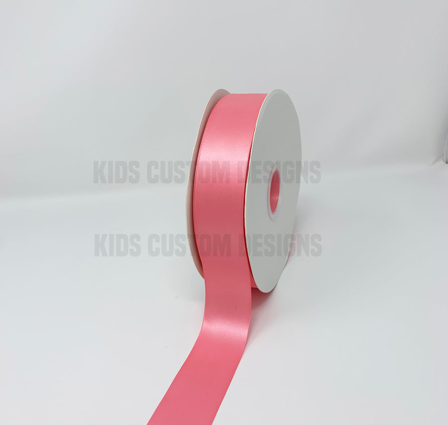 Double Face Satin Ribbon Coral Rose (W: 1-1/2 inch | 100 yards)