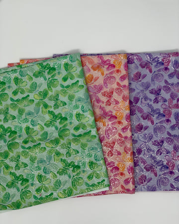 Butterfly Fabric Set 3 pieces 1/2 yard each 1.5 yard total