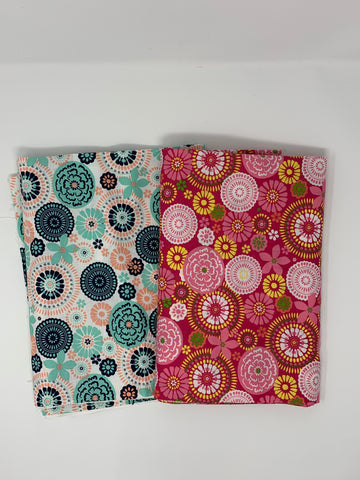 Floral Fabric Set 2 pieces 2.5 yards