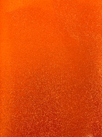 Orange Reflective Glitter Canvas Vinyl for Embroidery