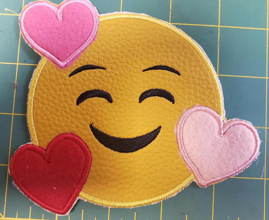 Love Face Embroidery Appliqué Design