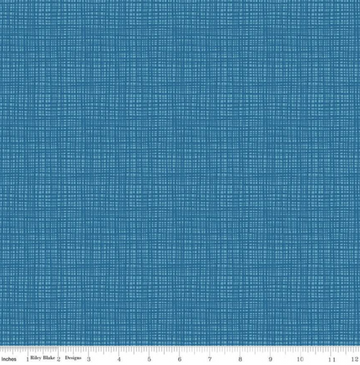 Texture Blue Blake 100% Cotton - 1 yard