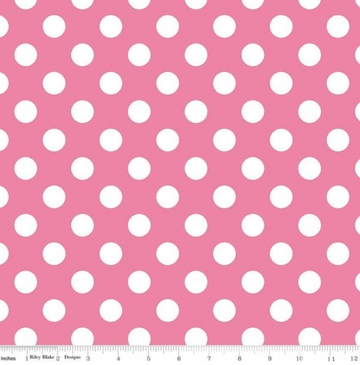 Medium Dot Hot Pink Blake 100% Cotton - 1 yard