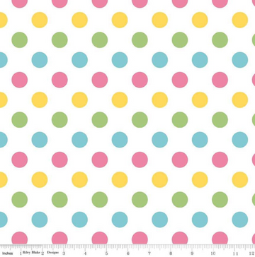 Medium Dot Girl Riley Blake 100% Cotton - 1 yard