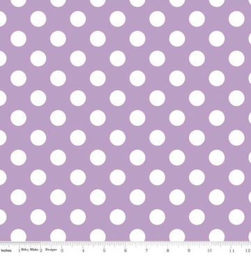 Medium Dot Lavender Riley Blake 100% Cotton - 1 yard