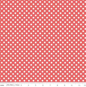 Small Dot Rouge Riley Blake 100% Cotton - 1 yard