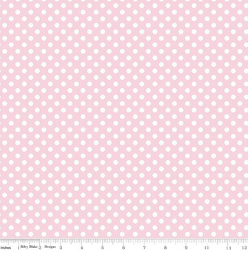 Small Dot Baby Pink Riley Blake 100% Cotton - 1 yard