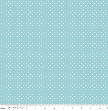 Swiss Dot Aqua Riley Blake 100% Cotton - 1 yard
