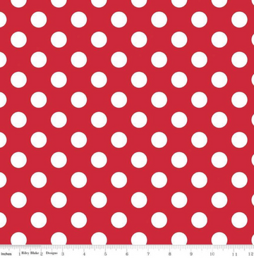 Medium Dot Red Riley Blake 100% Cotton - 1 yard