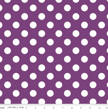 Medium Dot Purple Riley Blake 100% Cotton - 1 yard
