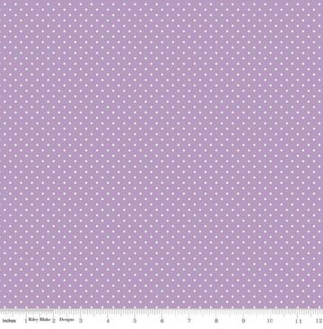 Swiss Dot Lavender Riley Blake 100% Cotton - 1 yard