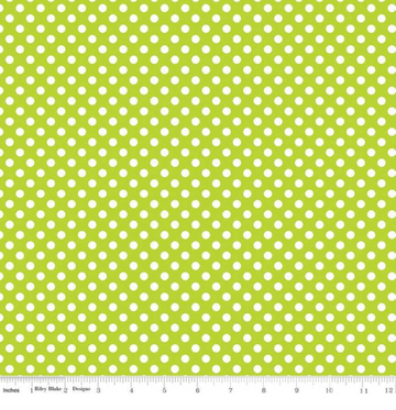 Small Dot Lime Riley Blake 100% Cotton - 1 yard