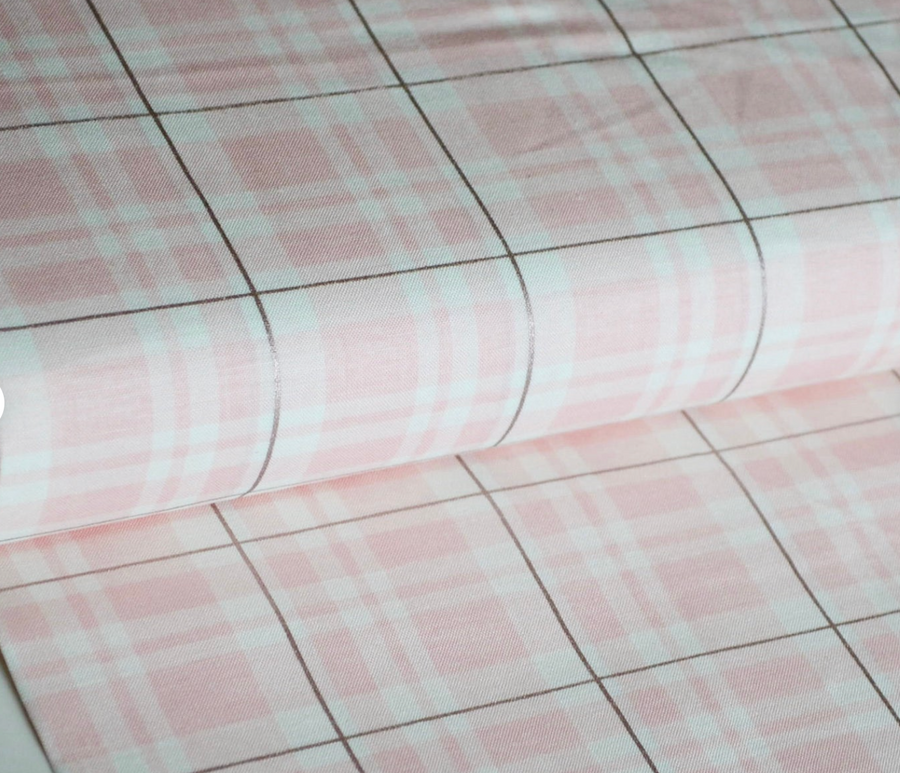 Glam Plaid Pink Sparkle Riley Blake 100% Cotton - 1 yard
