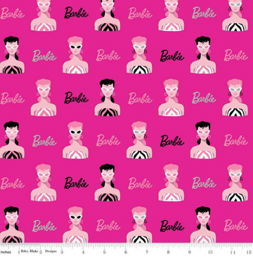 Barbie Main Hot Pink Riley Blake 100% Cotton - 1 yard