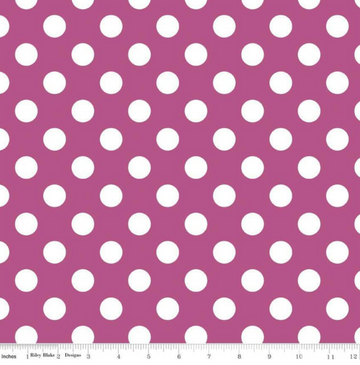 Medium Dot Fuchsia Riley Blake 100% Cotton -1 yard