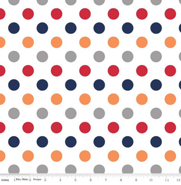 Medium Dot Boy Riley Blake 100% Cotton -1 yard