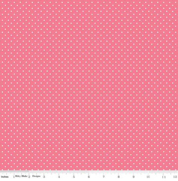 Swiss Dot Lipstick Riley Blake 100% Cotton - 1 yard
