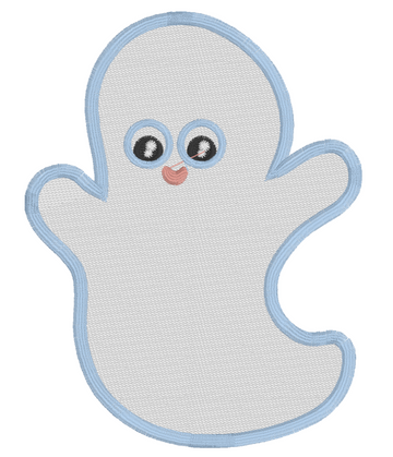 Ghost Halloween Embroidery Appliqué Design