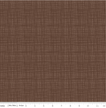 Texture Chocolate Blake 100% Cotton - 1 yard