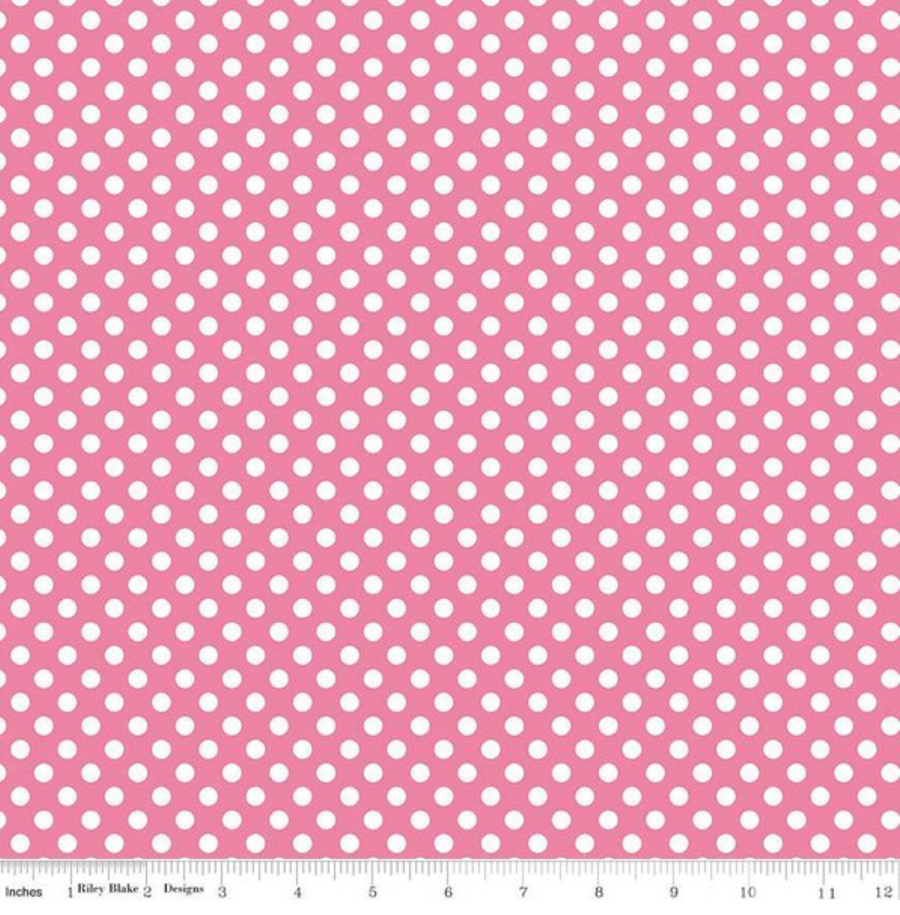 Small Dot Hot Pink Riley Blake 100% Cotton - 1 yard