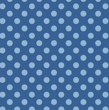 Blue Dots 100% Cotton - 1 yard