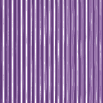 Violet Little Stripe 100% Cotton - 1 yard