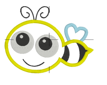 Happy Honey Bee Embroidery Appliqué Design