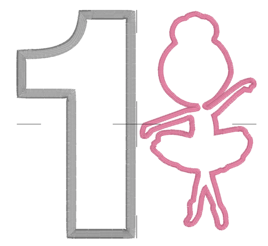 Fancy Ballerina Appliqué Number Set 1-5