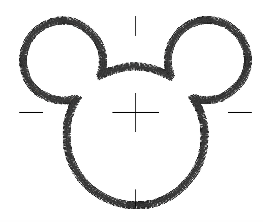 Classic Mouse Embroidery Appliqué Design
