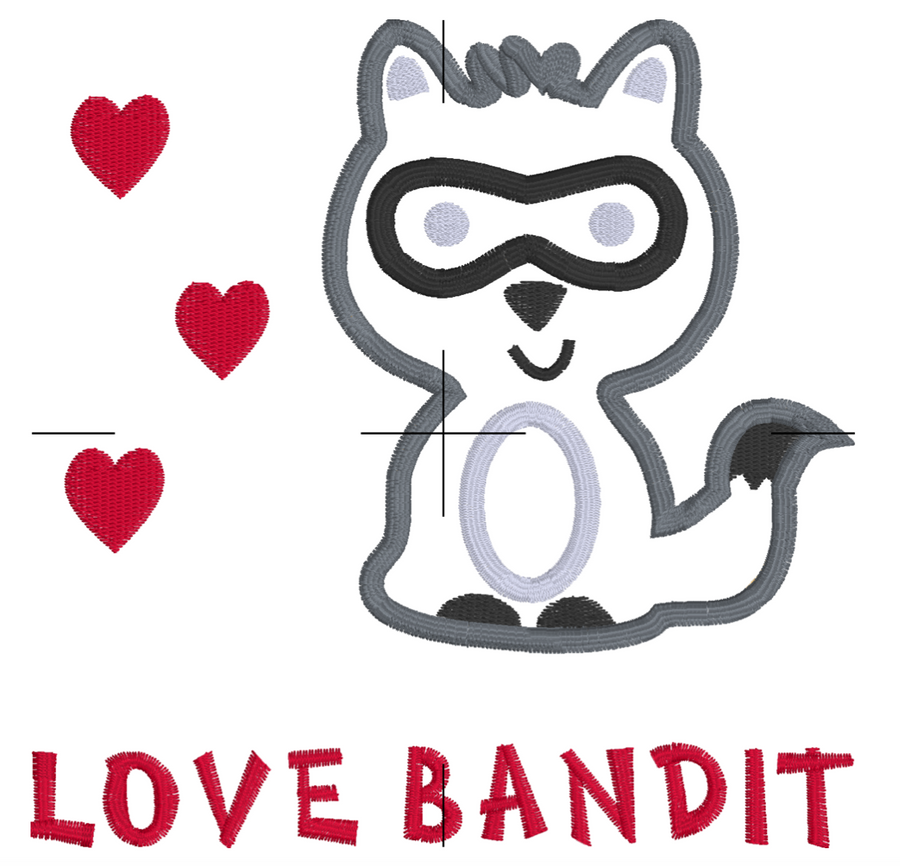 Love Bandit Embroidery Appliqué Design