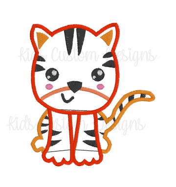Tiger Embroidery Appliqué Design
