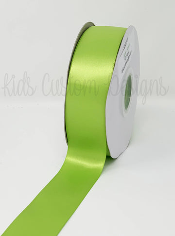 Double Face Satin Ribbon Apple Green (W: 1-1/2 inch | 100 yards)