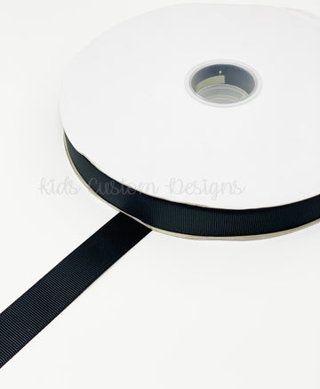 Grosgrain Ribbon Black (W: 7/8 inch | 100 yards)