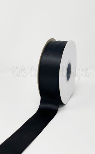 Double Face Satin Ribbon Black (W: 1-1/2 inch | 100 yards)