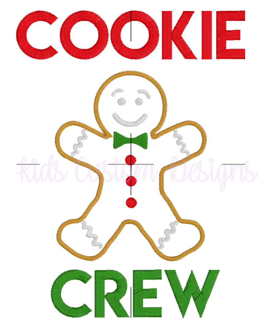Cookie Crew Embroidery Appliqué Design