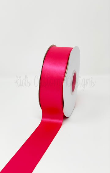 Double Face Satin Ribbon Fuchsia (W: 1-1/2 inch | 100 yards)