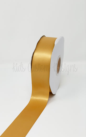 Double Face Satin Ribbon Gold (W: 1-1/2 inch | 100 yards)