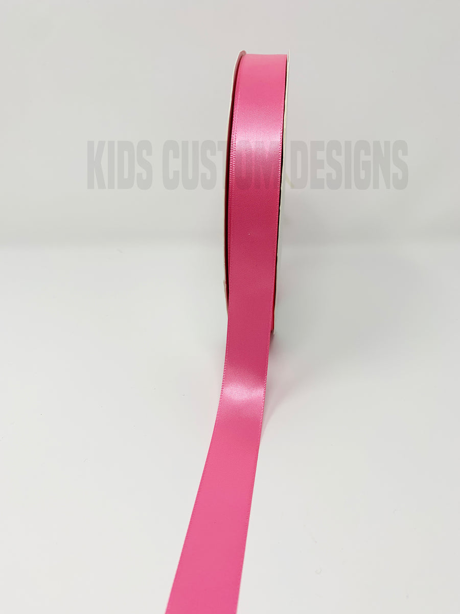 Double Face Satin Ribbon Hot Pink (W: 7/8 inch | 100 yards)