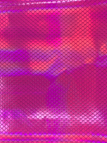 Hot Pink Mermaid Scales Reflective Vinyl for Embroidery