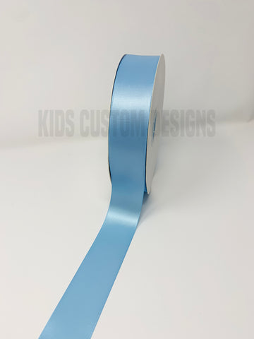 Double Face Satin Ribbon Light Blue (W: 1-1/2 inch | 100 yards)