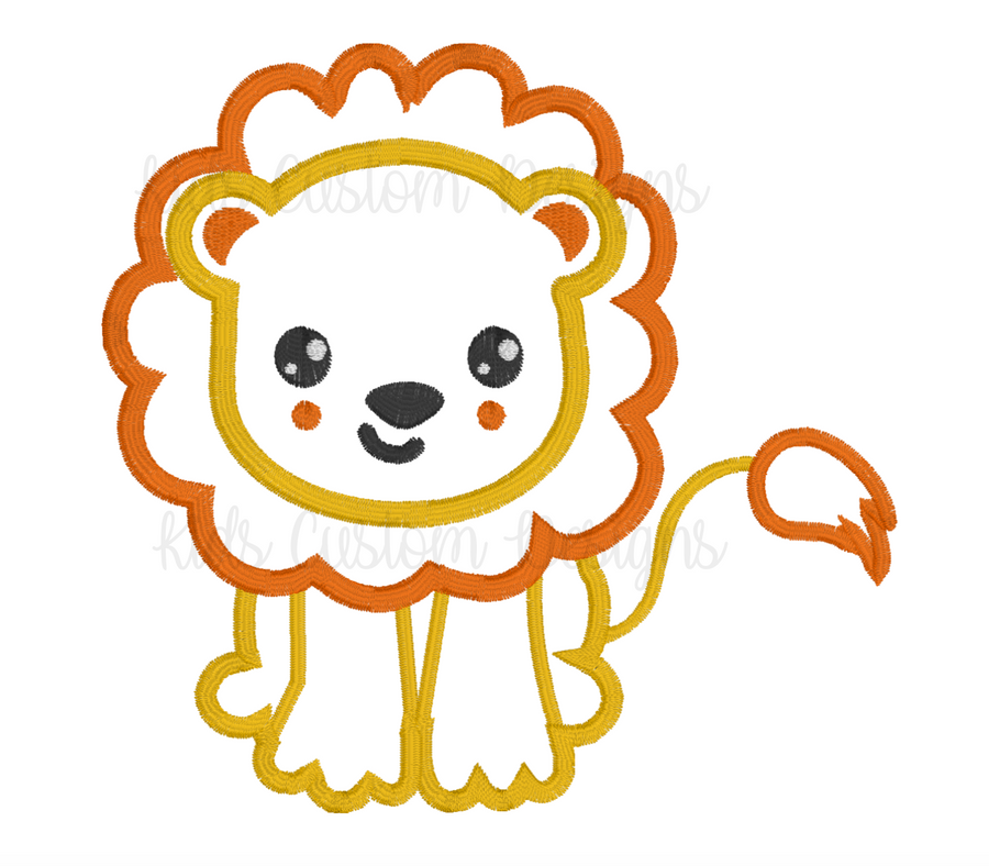 Lion Embroidery Appliqué Design