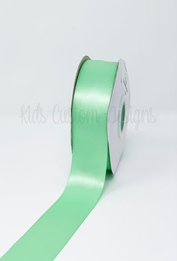 Double Face Satin Ribbon Mint Green (W: 1-1/2 inch | 100 yards)